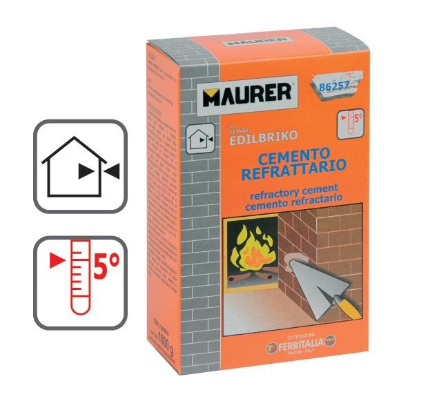 1 kg di cemento refrattario per caminetti stufe canne fumarie forni