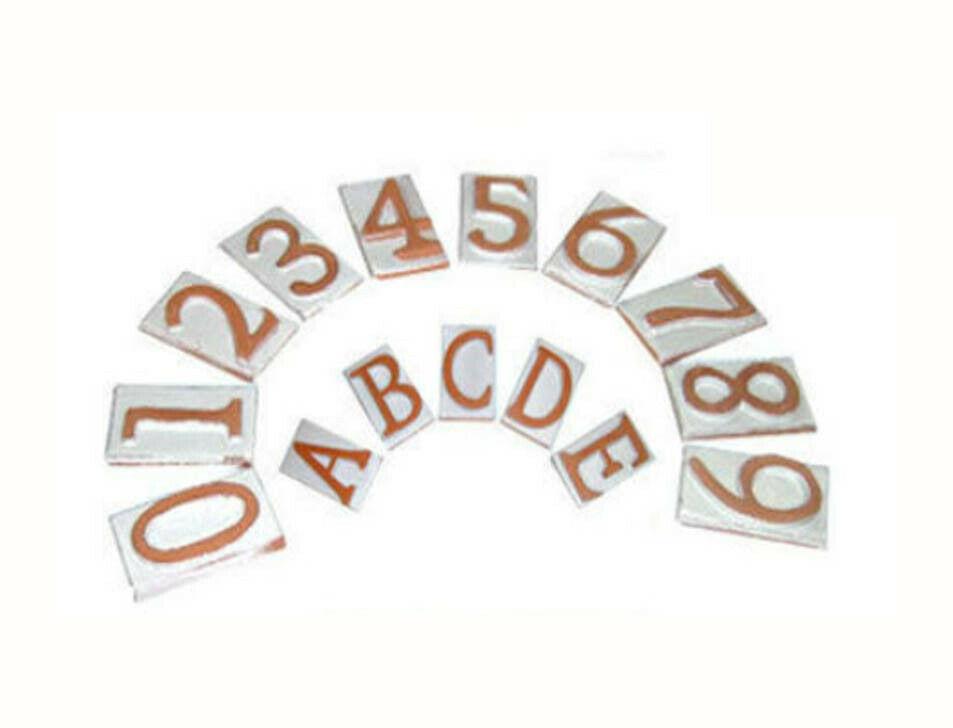 miniatuur 10 - NUMERO CIVICO IN TERRACOTTA CORNICE PER NUMERO CIVICO 1 2 3 POSTI 00762V