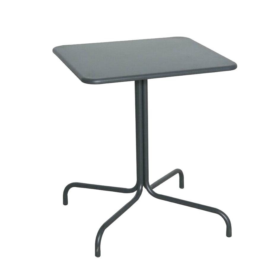Tavolo Con Piede Centrale tavolo tavolino quadrato con piede centrale per bar bistrot in alluminio