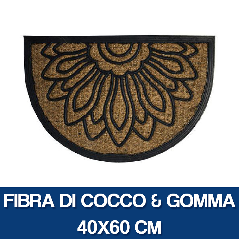 miniatura 5 - ZERBINO TAPPETO ASCIUGAPASSI CASA FIBRA DI COCCO SUPPORTO GOMMA O RIGHE (26836V)